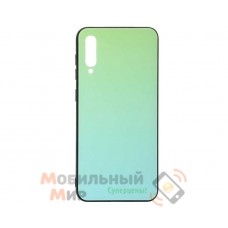 Силиконовая накладка Gradient Glass для Samsung A50 2019 A505 Green