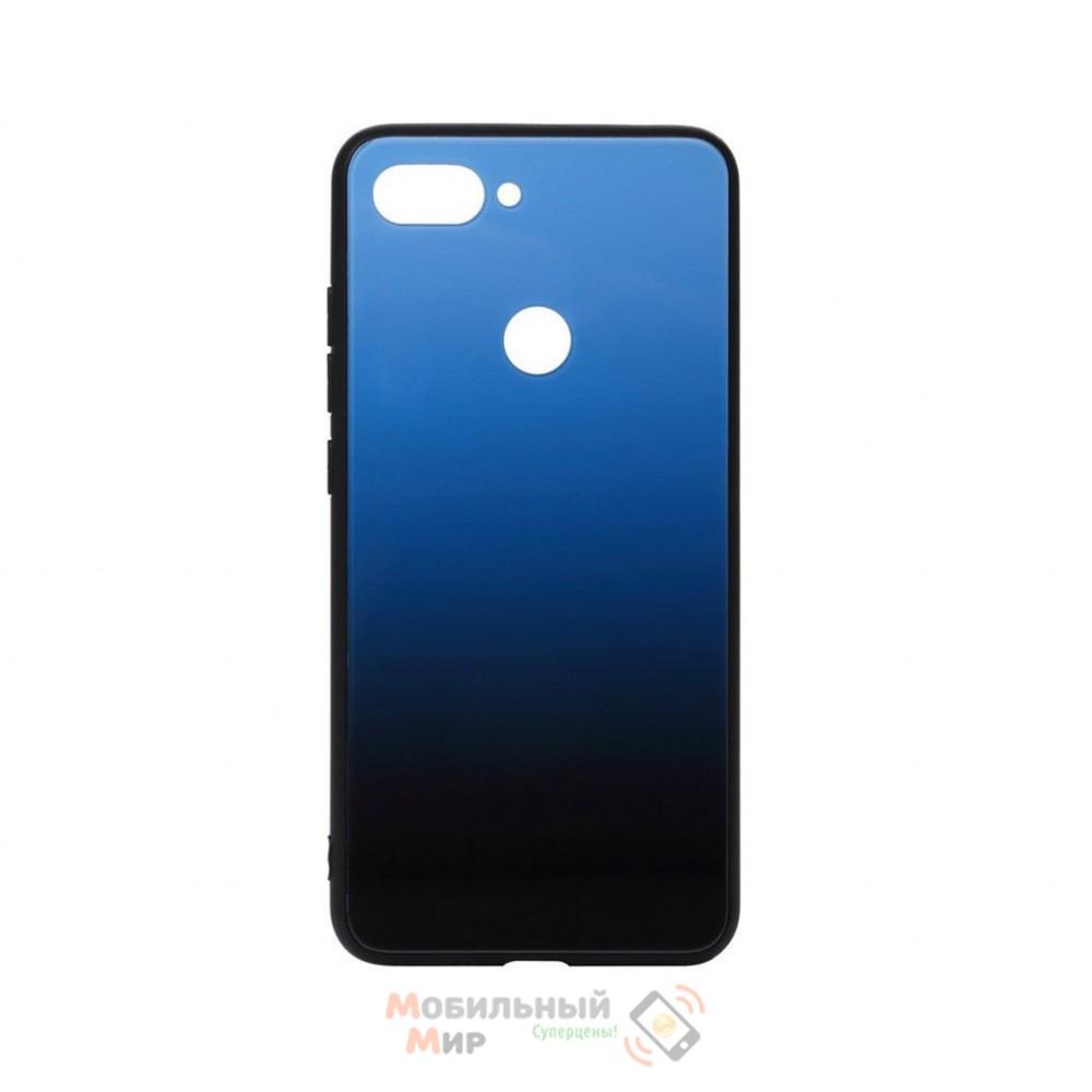 Силиконовая накладка Gradient Glass для Xiaomi Mi 8 Life Blue