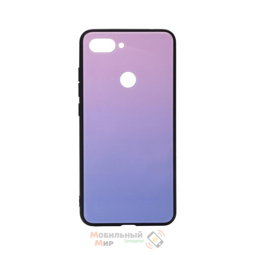 Силиконовая накладка Gradient Glass для Xiaomi Mi 8 Life Pink