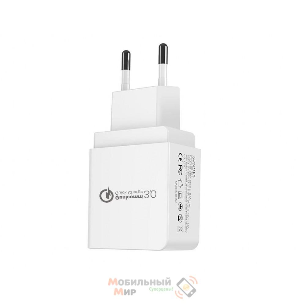 Ixtone (GS-551) Сетевое зарядное устройство Qualcomm Quick Charge 3.0/3.6-6V-3A/6-9V-2A/9 EU White (BULK)
