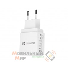 Ixtone (GS-551) Сетевое зарядное устройство Qualcomm Quick Charge 3.0/3.6-6V-3A/6-9V-2A/9 EU White (BULK)