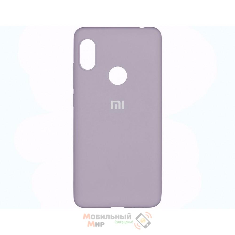 Силиконовая накладка Silicone Case для Xiaomi Redmi Note 7 Lavender