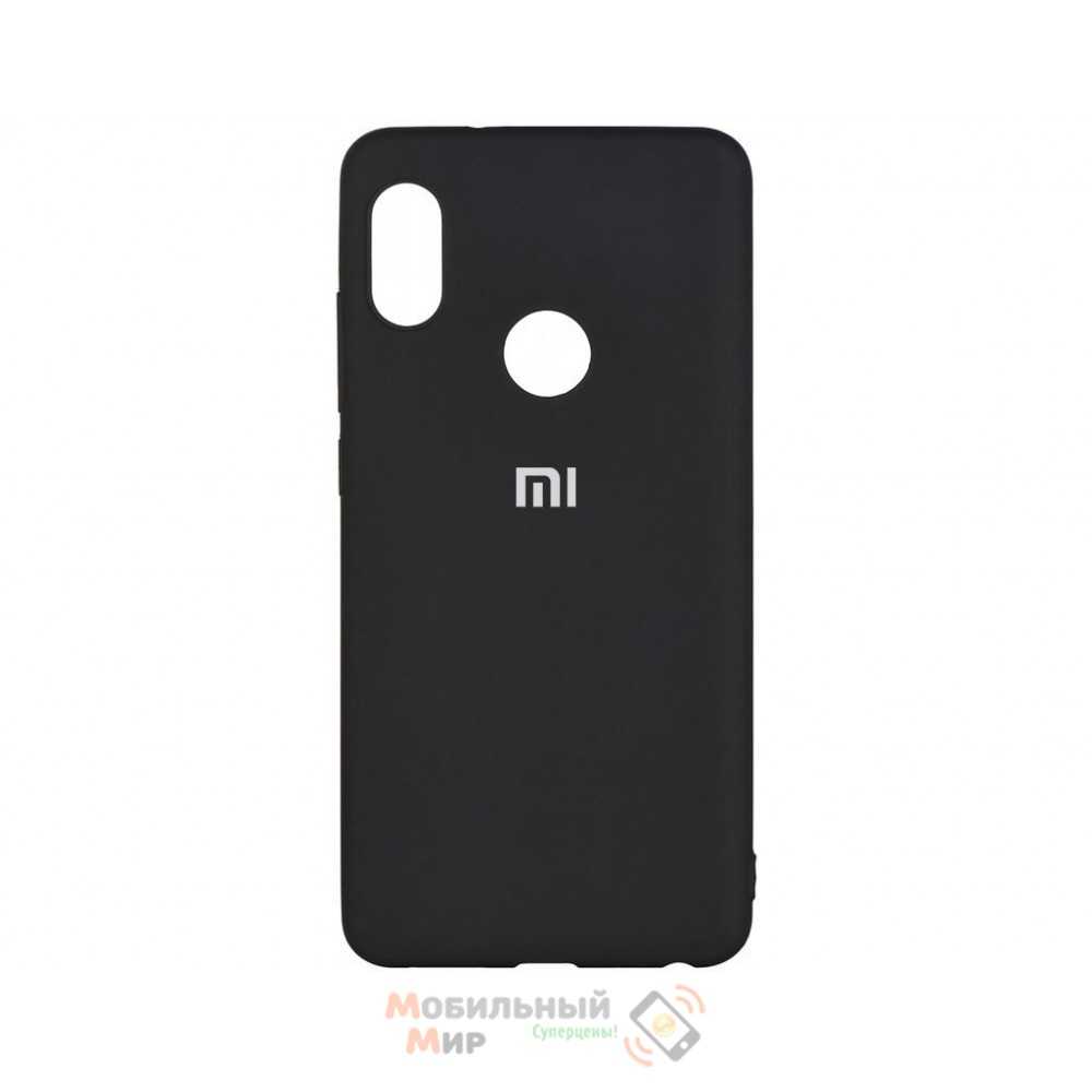 Силиконовая накладка Silicone Case для Xiaomi Redmi Note 7 Black