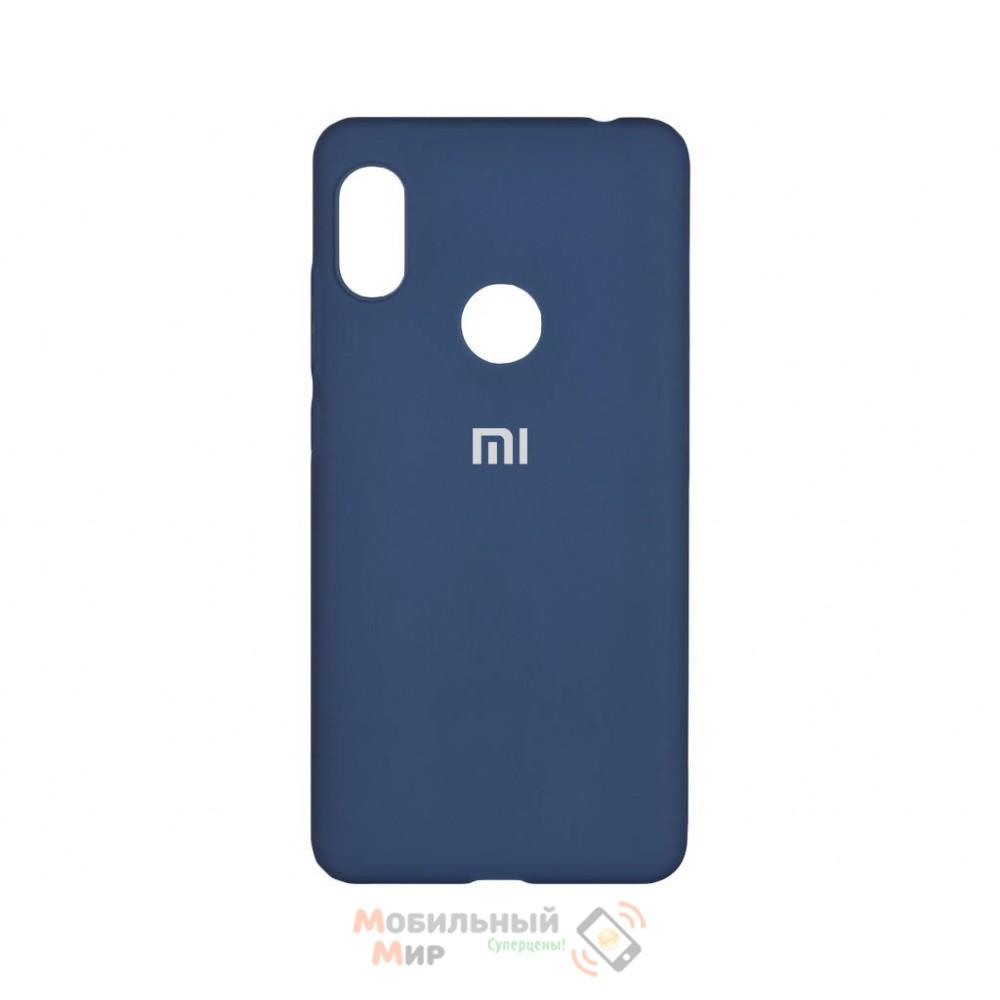 Силиконовая накладка Silicone Case для Xiaomi Redmi Note 7 Navy Blue