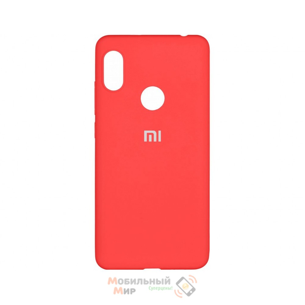 Силиконовая накладка Silicone Case для Xiaomi Redmi Note 7 Red