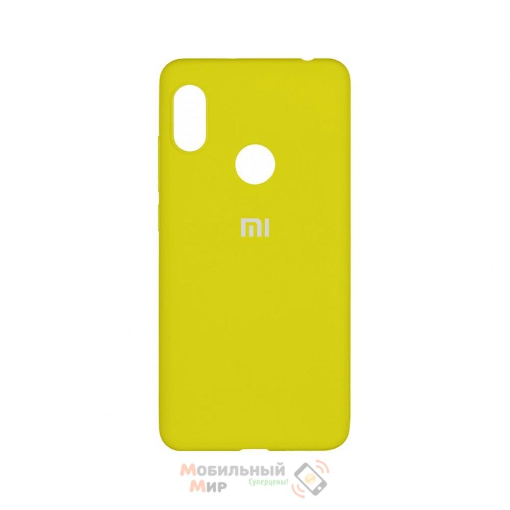 Силиконовая накладка Silicone Case для Xiaomi Redmi Note 7 Yellow