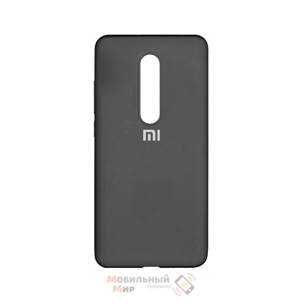Силиконовая накладка Silicone Case для Xiaomi Mi 9T Black