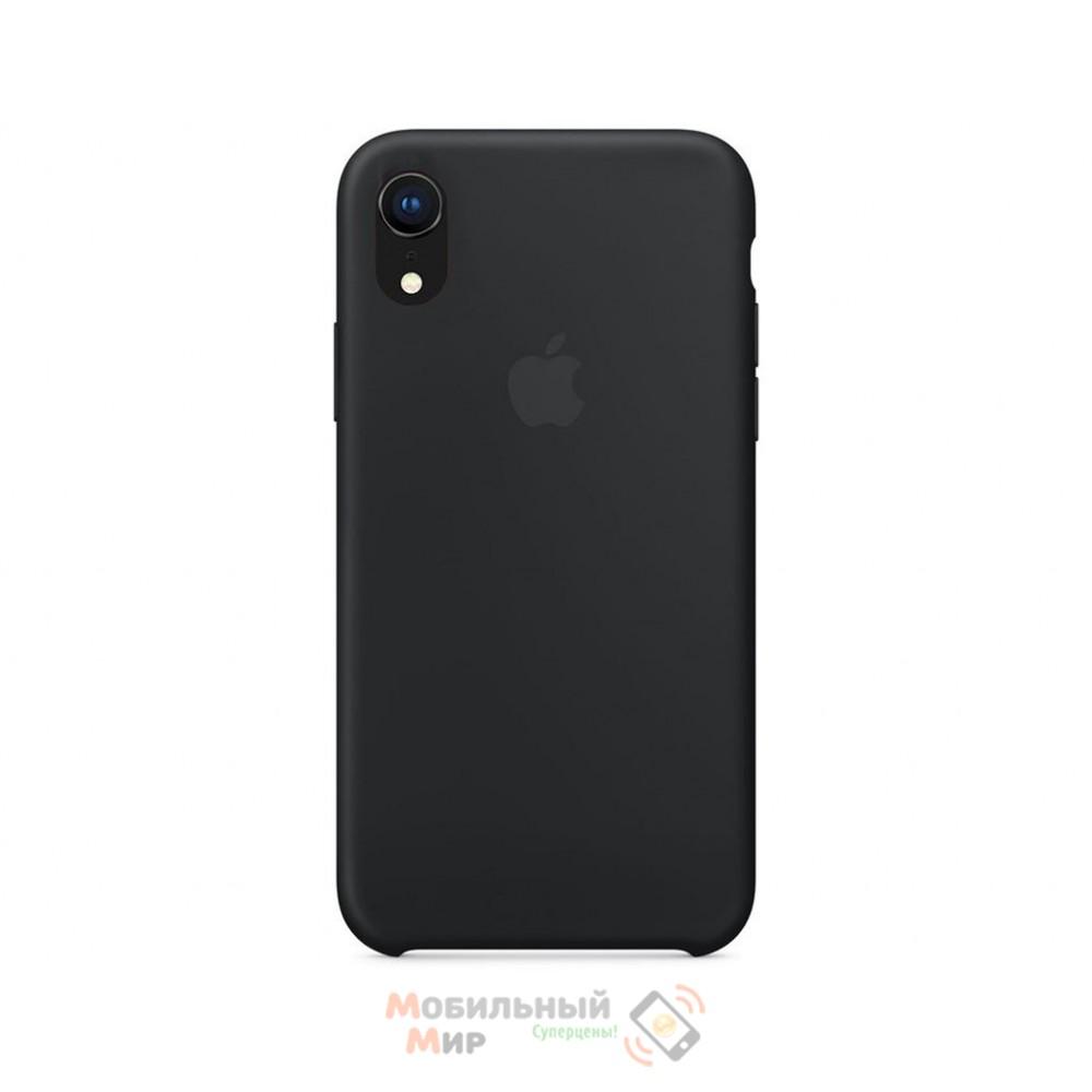 Силиконовая накладка Silicone Case для iPhone XR Black
