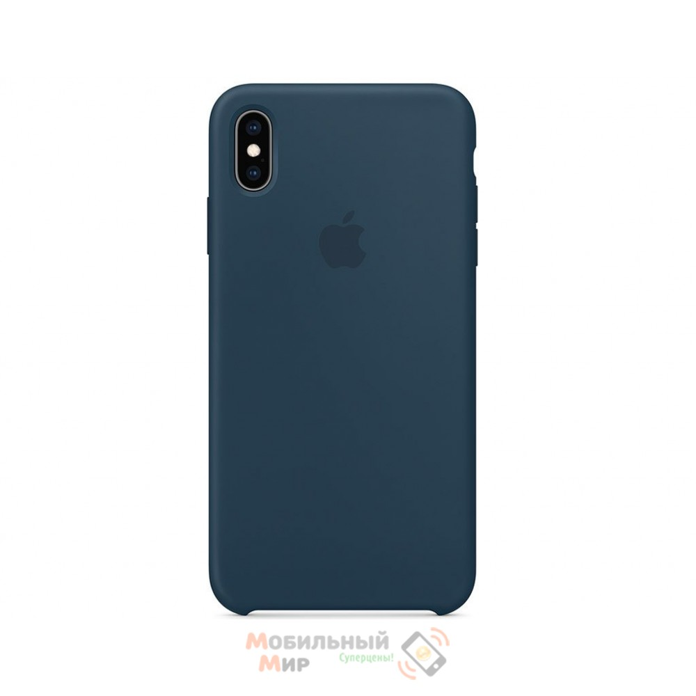 Силиконовая накладка Silicone Case для iPhone XR Blackish Green