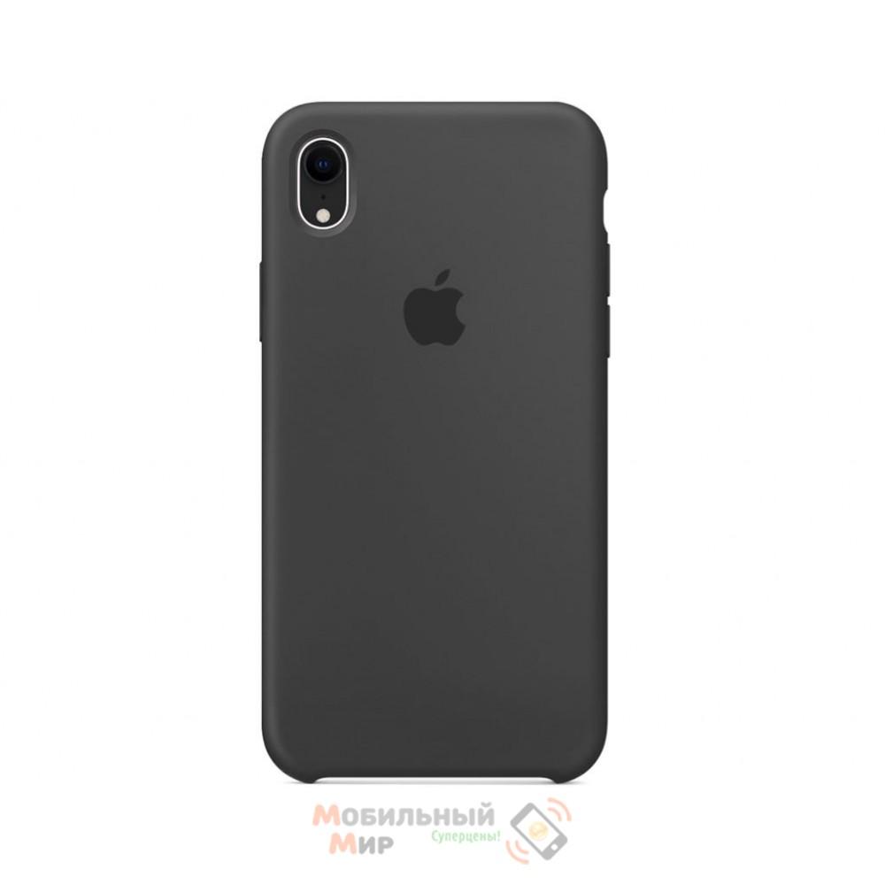 Силиконовая накладка Silicone Case для iPhone XR Charcoal