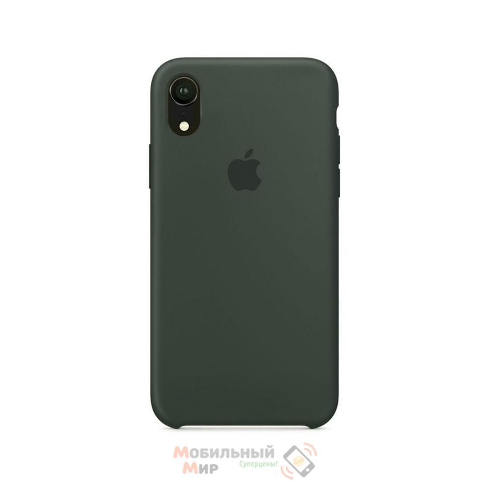 Силиконовая накладка Silicone Case для iPhone XR Dark Olive