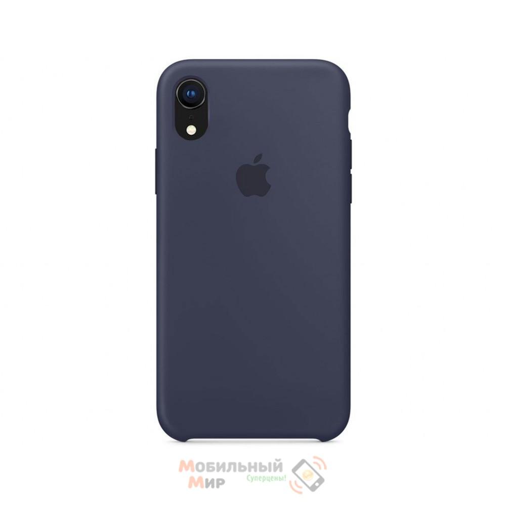 Силиконовая накладка Silicone Case для iPhone XR Midnight Blue