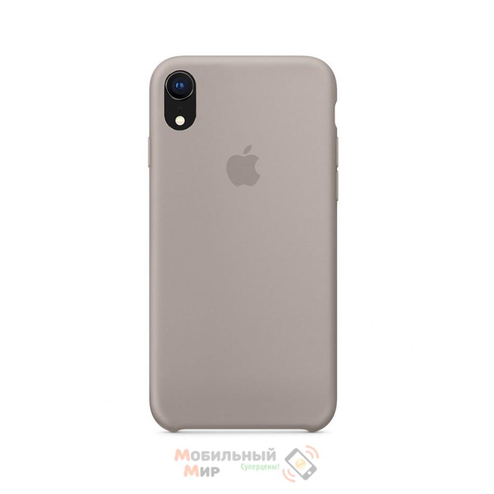 Силиконовая накладка Silicone Case для iPhone XR Pebble