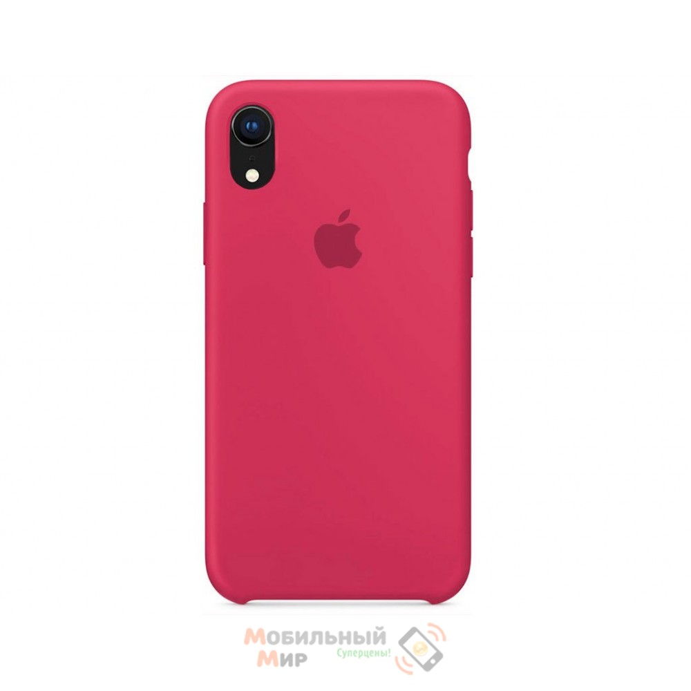 Силиконовая накладка Silicone Case для iPhone XR Raspberry