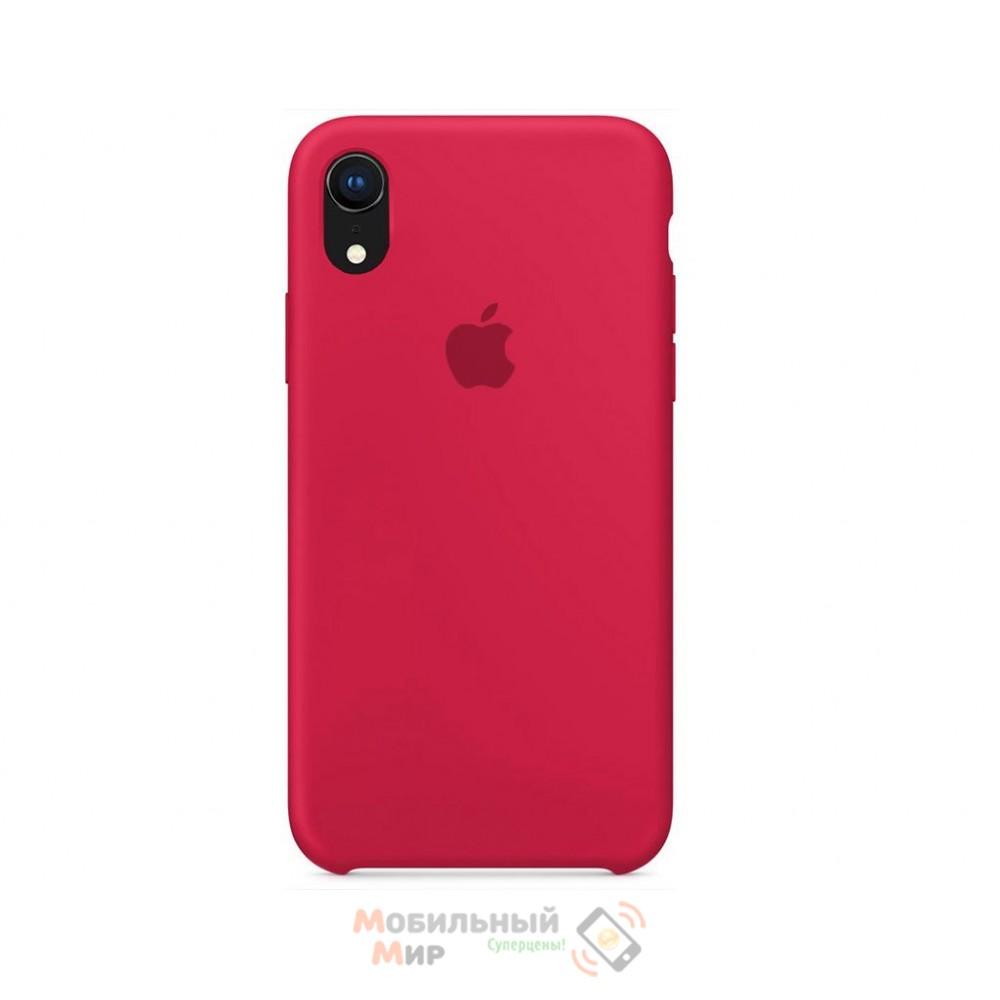 Силиконовая накладка Silicone Case для iPhone XR Rose Red