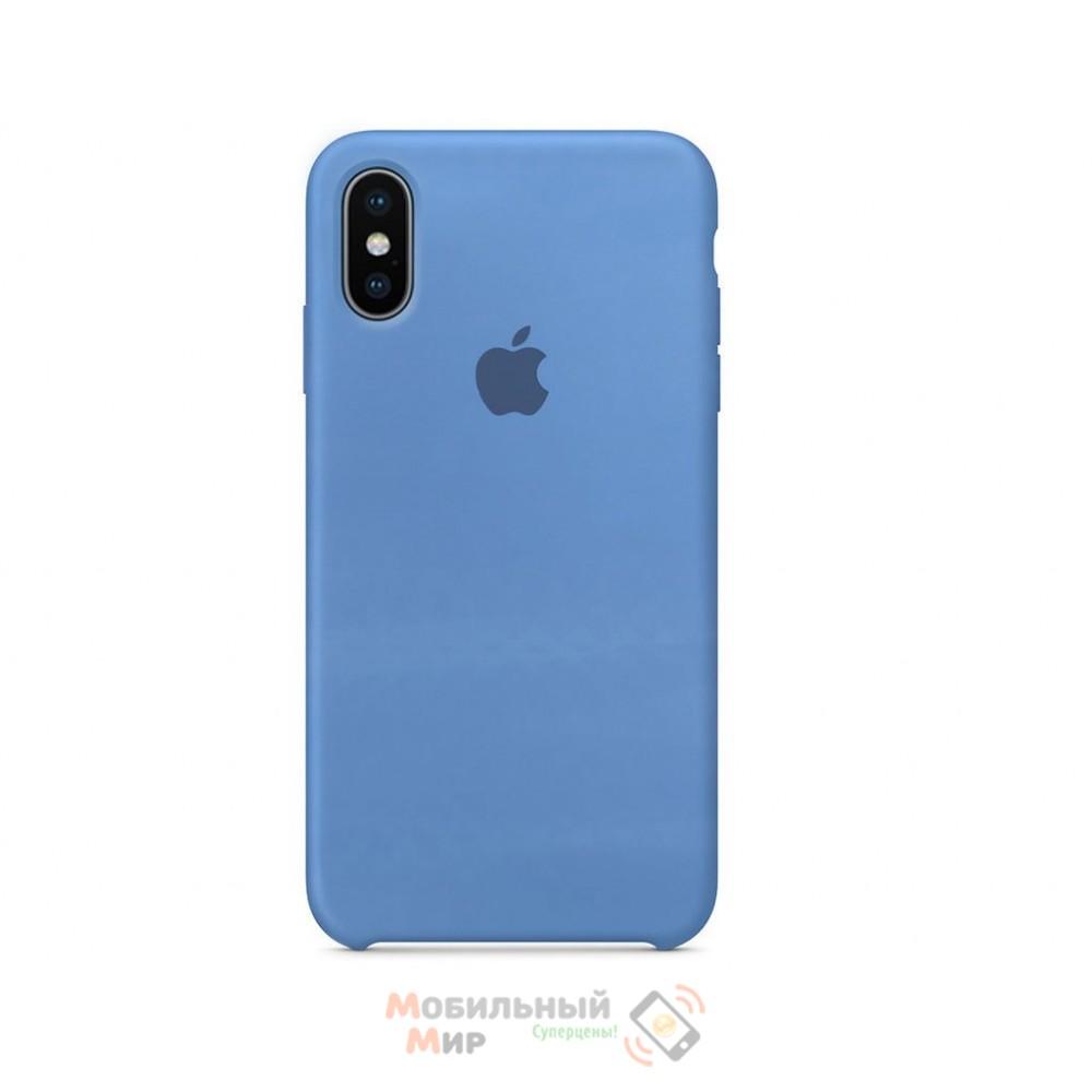 Силиконовая накладка Silicone Case для iPhone XS Max Blue