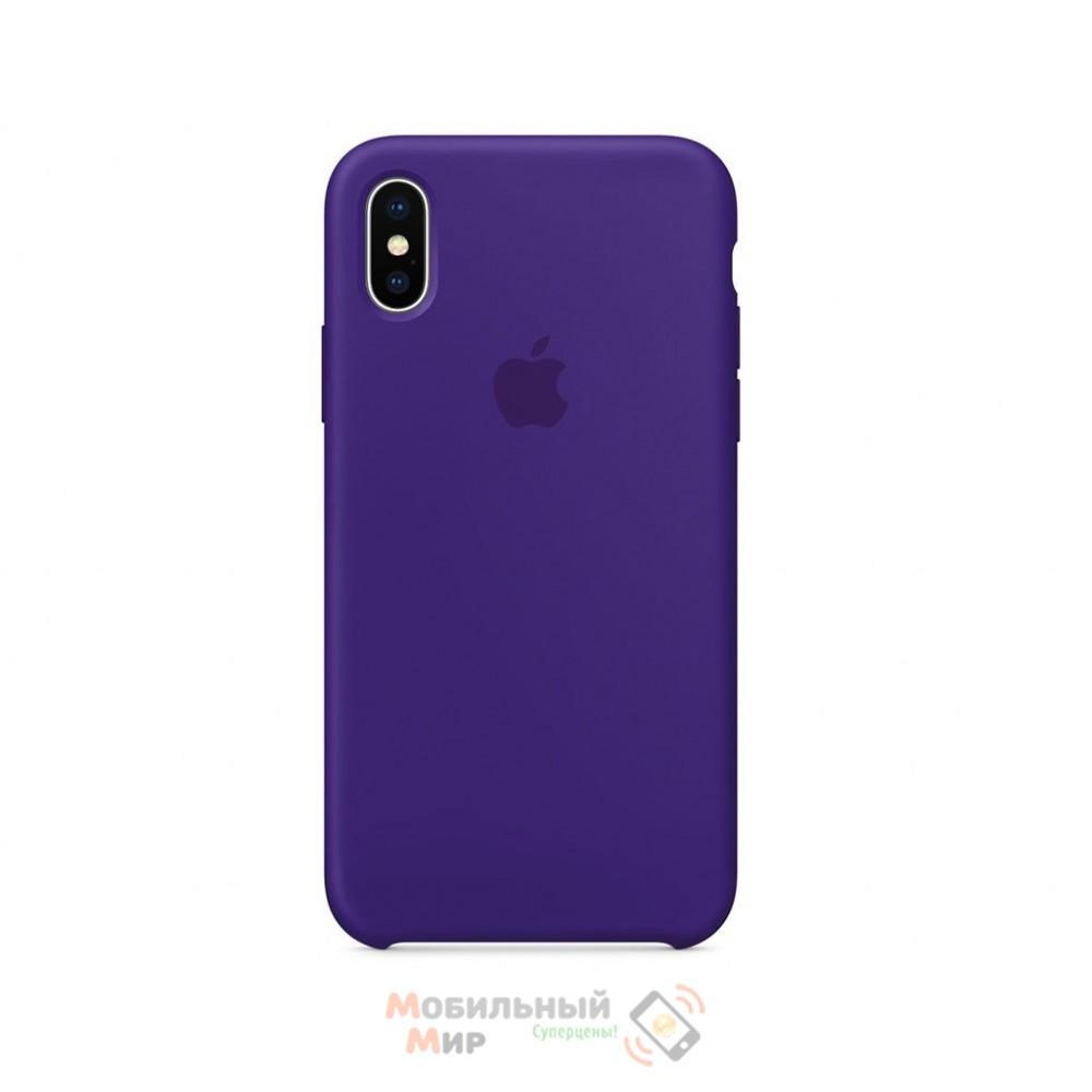 Силиконовая накладка Silicone Case для iPhone XS Max Violet