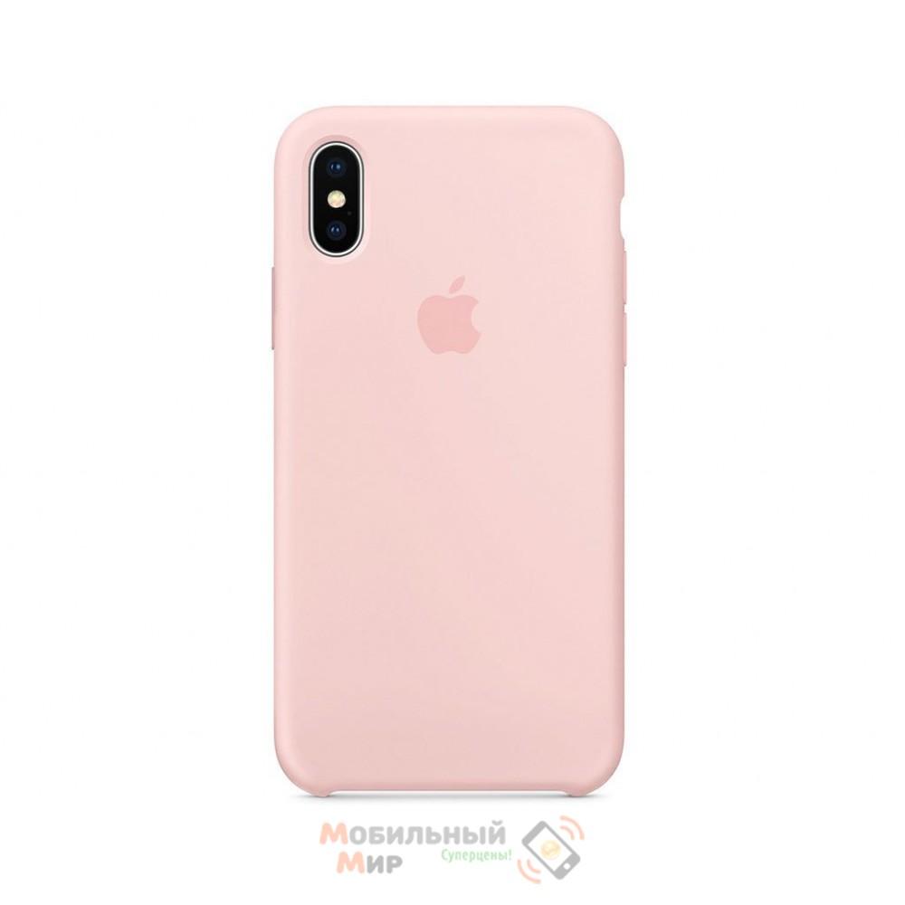 Силиконовая накладка Silicone Case для iPhone XS Max Light pink