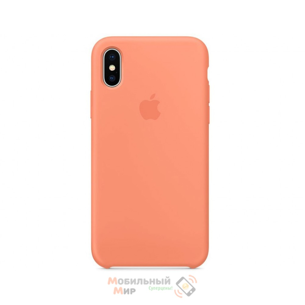 Силиконовая накладка Silicone Case для iPhone XS Max Peach