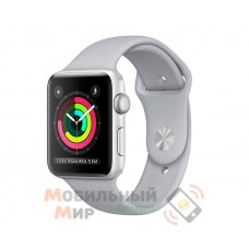 Смарт-часы Apple Watch Series 3 42mm Silver Aluminium Case with White Sport Band (MTF22)