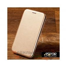 Чехол-книжка Aspor для Samsung A10s 2019 A107 Leather Gold