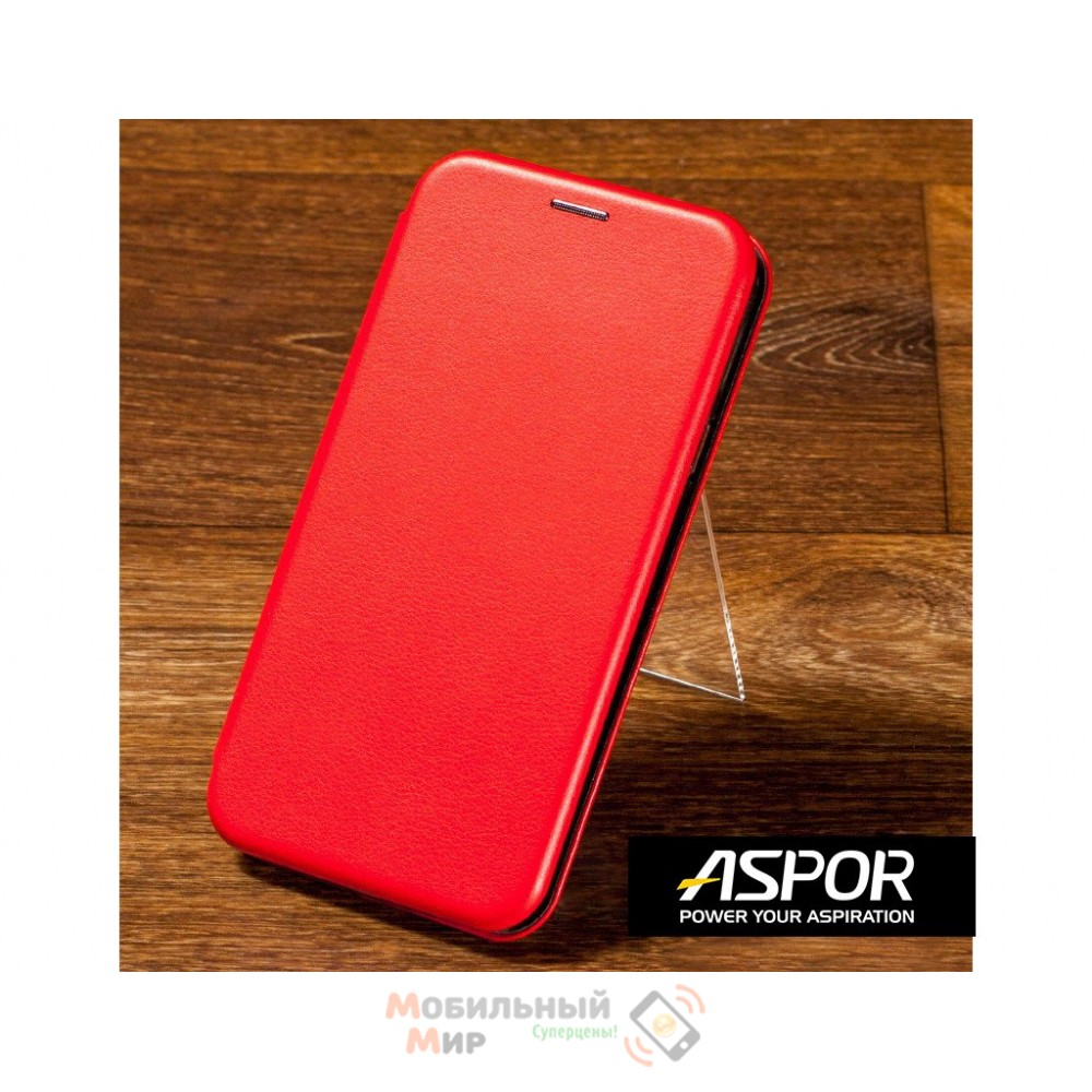 Чехол-книжка Aspor для Samsung A50 2019 A505 Leather Red