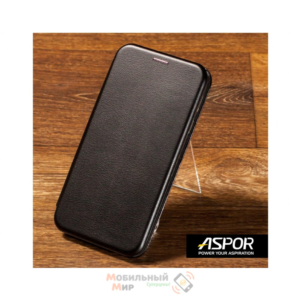 Чехол-книжка Aspor для Xiaomi Redmi 7 Leather Black