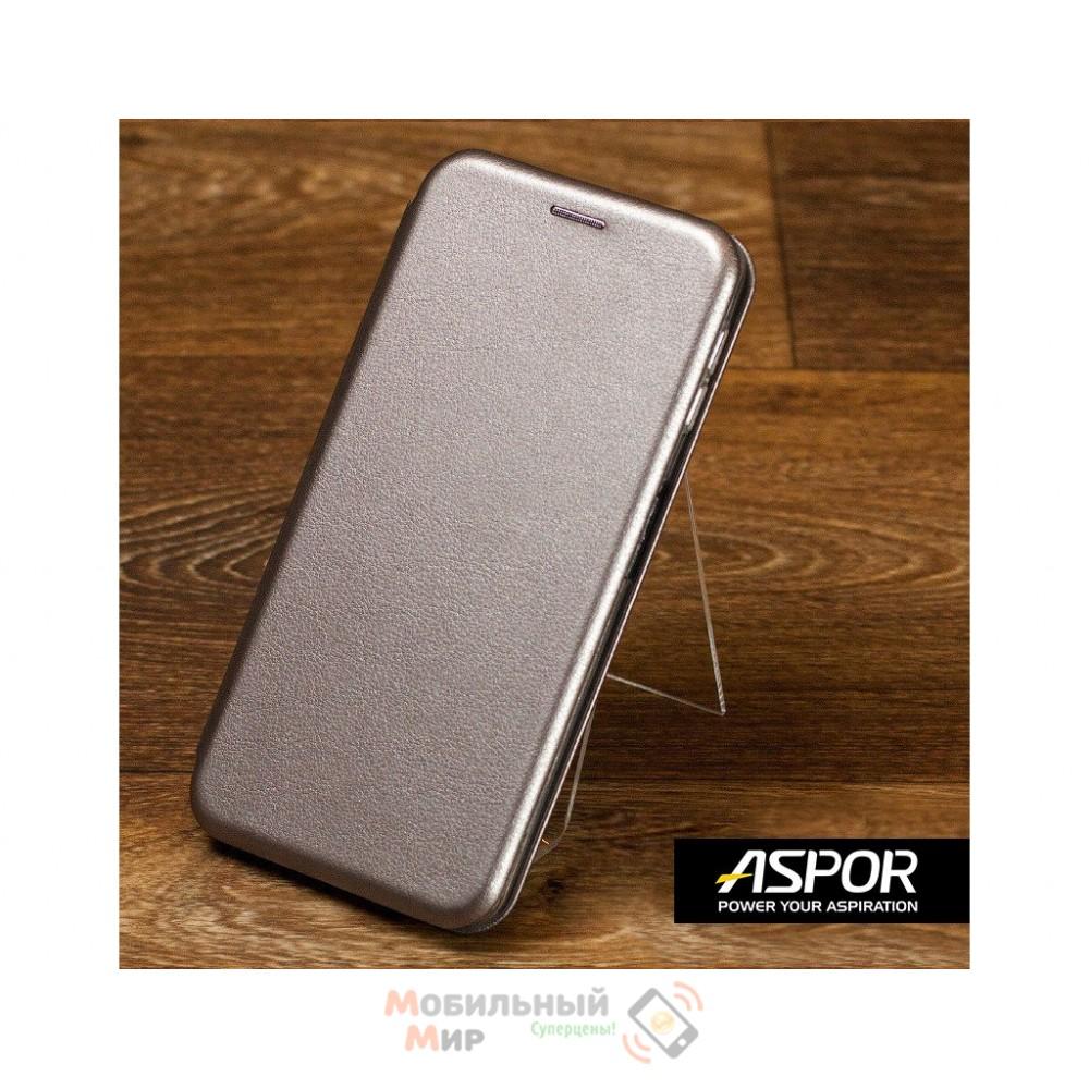 Чехол-книжка Aspor для Xiaomi Redmi Note 8 Leather Graphite