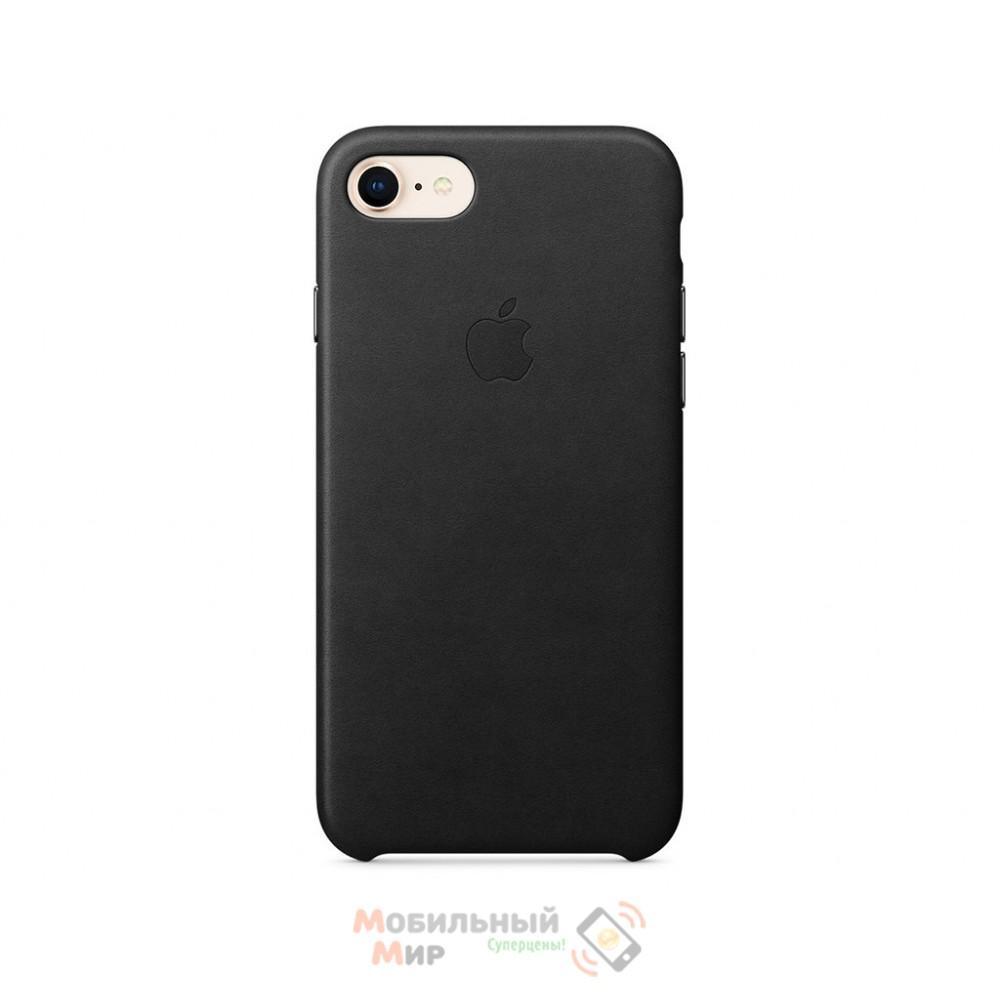 Кожаная накладка Leather Case для iPhone 7/8 Black