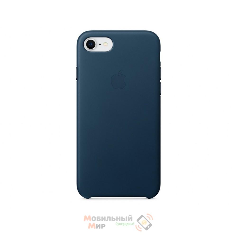 Кожаная накладка Leather Case для iPhone 7/8 Blue