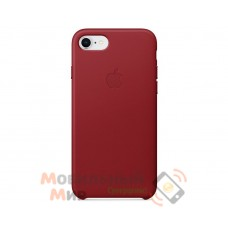 Кожаная накладка Leather Case для iPhone 7/8 Red