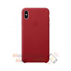 Кожаная накладка Leather Case для iPhone X/XS Red