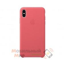 Кожаная накладка Leather Case для iPhone X/XS Pink
