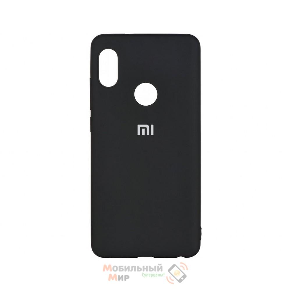 Силиконовая накладка Silicone Case для Xiaomi Redmi 7 Black
