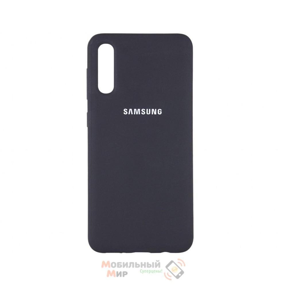 Силиконовая накладка Silicone Case для Samsung A50/A50s/A30s 2019 Black