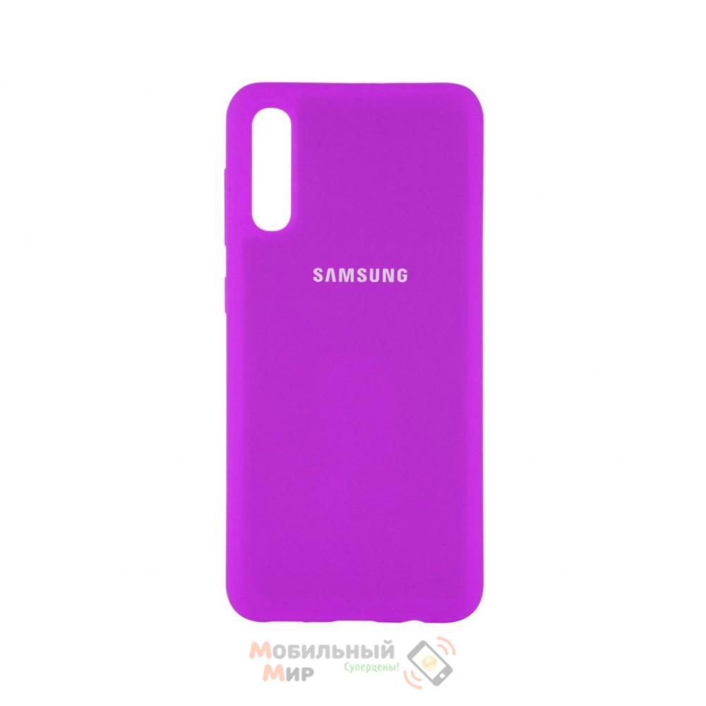 Силиконовая накладка Silicone Case для Samsung A50/A50s/A30s 2019 Violet