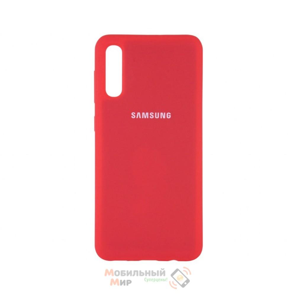 Силиконовая накладка Silicone Case для Samsung A50/A50s/A30s 2019 Red