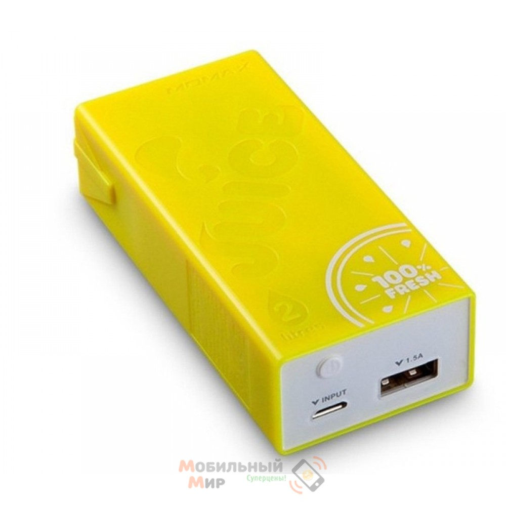 Momax iPower Juice power bank 4400 mAh, yellow [IP32Y]