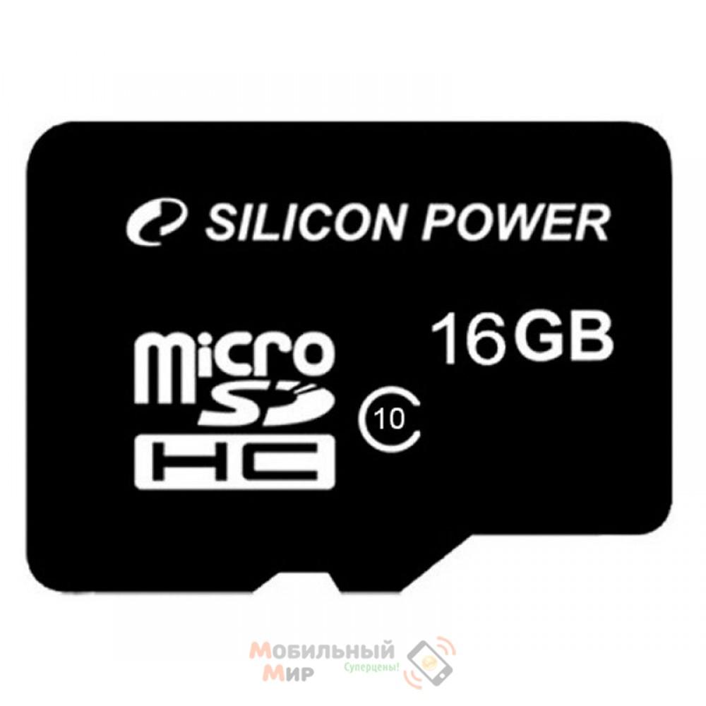 MicroSDHC 16 GB Silicon Power Class 4 + SD Adapter