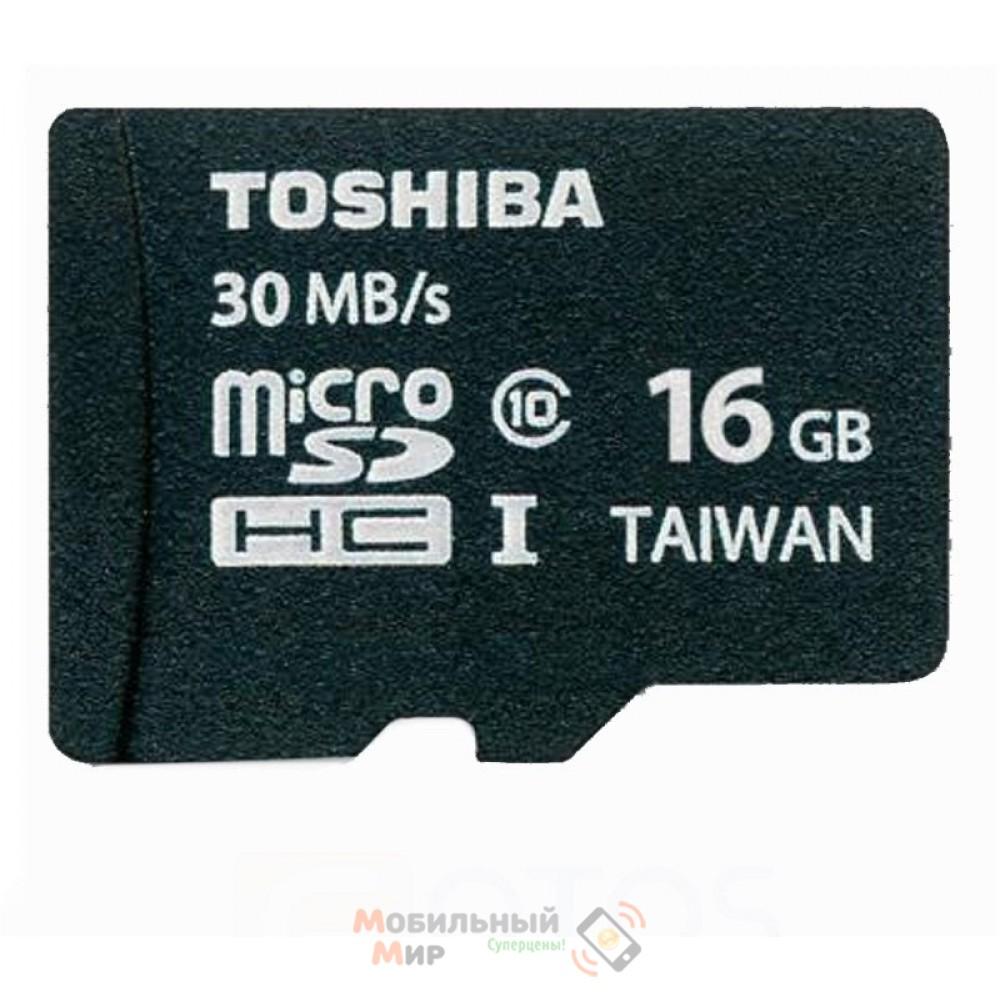 MicroSDHC 16 GB Toshiba Class 4 + SD Adapter