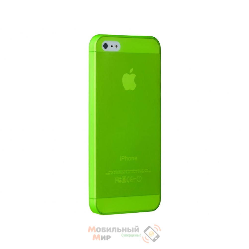 Чехол Ozaki O!coat 0.3 Jelly iPhone 5/5S Green (OC533GN)