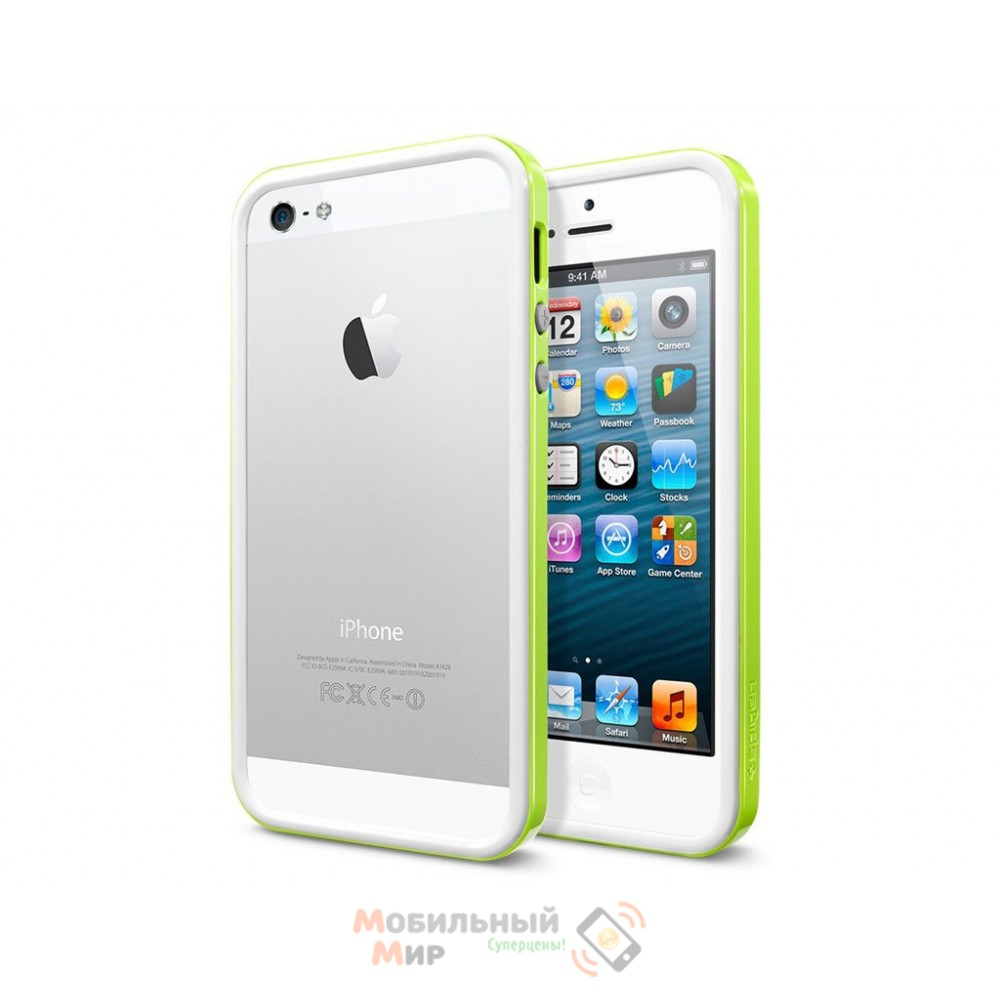 Чехол SGP Cace Neo Hybrid EX iPhone 5/5S Lime (SGP09515)