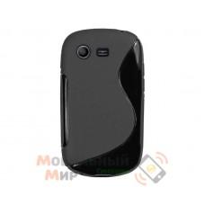 Чехол-накладка TPU cover case + пластик for Samsung S5282 Black