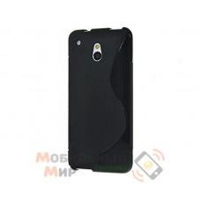 Чехол-накладка TPU cover case for HTC One mini M4 Black
