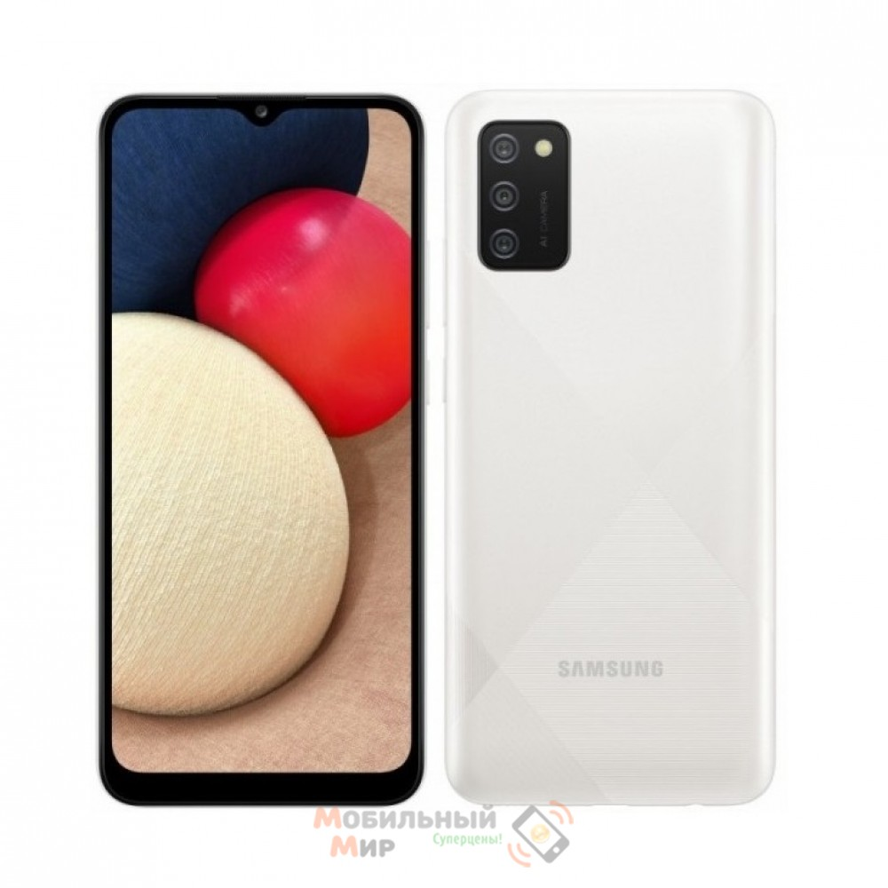 Смартфон Samsung Galaxy A02s 3/32GB White (SM-A025FZWESEK)