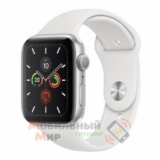 Смарт-часы Apple Watch Series 5 GPS 40mm Silver Aluminium Case with White Sport Band (MWV62)