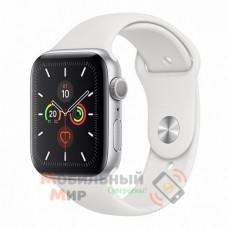 Смарт-часы Apple Watch Series 5 GPS 40mm Silver Aluminium Case with White Sport Band (MWV62)