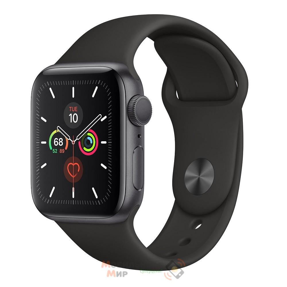 Смарт-часы Apple Watch Series 5 GPS 40mm Space Grey Aluminium Case with Black Sport Band (MWV82)