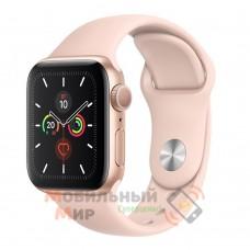 Смарт-часы Apple Watch Series 5 GPS 40mm Gold Aluminium Case with Pink Sand Sport Band (MWV72)