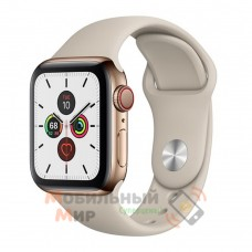 Смарт-часы Apple Watch Series 5 GPS 44mm Gold Stainless Steel Case with Stone Sport Band (MWWH2)